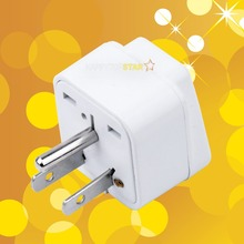 Universal UK/US/EU/AU 2 Pins Socket to United States America Japan Canada USA JP CA 3 Pins Travel Power Adapter Adaptor Plug