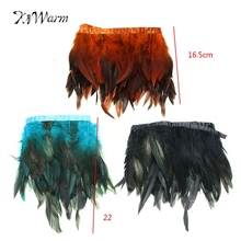 14-19cm Fahion Long Feather Plumes Fringe Trim Feather Boa Stripe for Party Clothing Accessories Craft Home Decoration