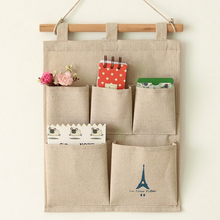 Useful High Quality 2016 New Arrival Tower 5 Pockets Closet Door Home Wall Hanging Organizer Storage Stuff Bags Pouch