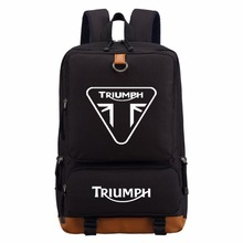 WISHOT triumph motorcycle backpack Men women's boy Student School Bags travel Shoulder Bag Laptop Bags bookbag casual bag(China)