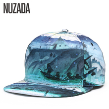 Brand NUZADA 3D Printing Men Women Couple Baseball Cap Creative Design Hip Hop Caps Cotton Snapback Hats Bone Adjustable(China)