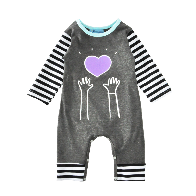 Baby Romper 2017 Brand Autumn Cute Heart Stripe Newborn Jumpsuit Infant Clothes High Quality Hand Pattern Kids Boy Girl Rompers<br><br>Aliexpress