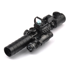Buy Tactical Scope Combo 3-9X32YG Riflescope Long Range Red Dot Laser Holographic Reflex Sight Rifle Airsoft for $34.85 in AliExpress store