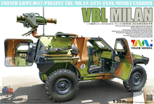 Tiger 4618  1/35 Scale VBL Milan French Army 1978-Present VBL Milan Anti-Tank Missile Carrier Plastic Model Building Kit