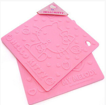 (5 Pcs/Lot) Good Plastic Quality Hello Kitty Home Kitchen High Temperatures Stand Pot Mat Table Dish Placemat Pads