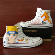 Uzumaki Naruto Converse All Star Shoes Design Custom Hand Painted Shoes Man Woman Sneakers High Top Women Men Shoes Christmas