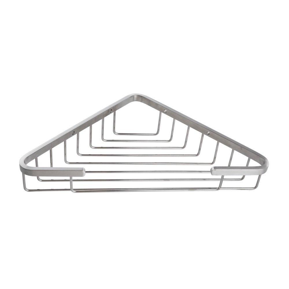 304 Stainless Steel Bathroom Corner Shower Caddy Rustproof Basket , Brushed Nickel<br>