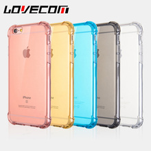 LOVECOM Luxury Transparent Clear Soft TPU Anti-knock Back Cover For iPhone 5S 6 6S 7 Plus Hot Mobile Phone Cases Protector