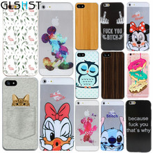 Ultra Thin Mobile Phone Bags For iphone 4 4s 5 5s 5se 6 6s 4.7'' Case Cover Silicone Soft TPU Wood Flower Floral Print Shells