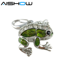 jewelry usb flash drive 4gb 8gb 16gb 32gb pen drive metal frog animal pendrive crystal gift hard disk gadget usb memeory