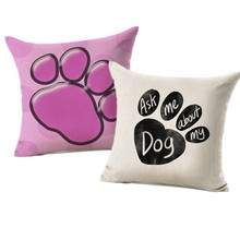 Cute Animals Pet Dog Pattern Cushion Cover For Sofa Home Decor Almofadas 45X45cm Decorative Throw Pillows Case DOG5(China)