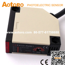 switches EK50-R4M1 reflex AC/DC china manufacturer photoelectric sensor