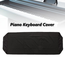 Black Piano Dustproof Lamination Cloth Piano Keyboard Dust Sheet Cleaning Cloth For 88-Key Electronic Piano Cover
