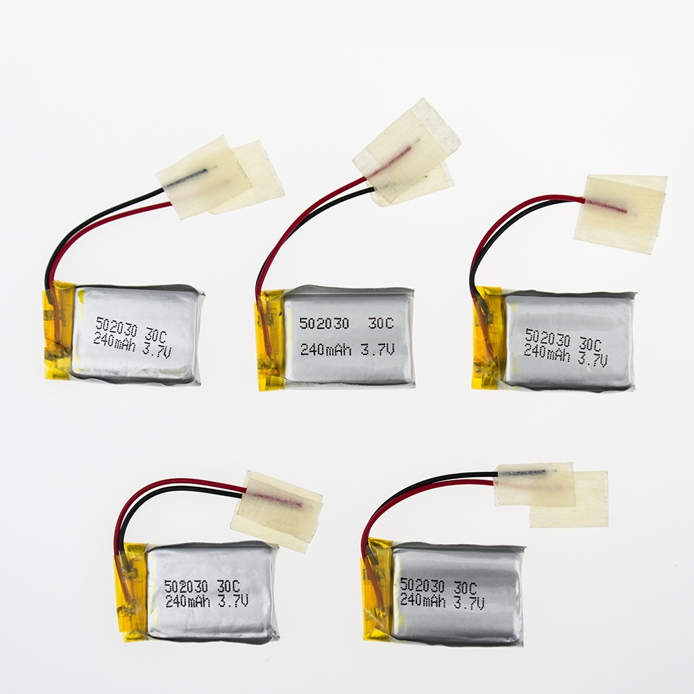 5x Battery 3.7V LiPo 240mAh 30C Drone Batteria Rechargeable For Syma S107 S108 S109 S026 6020 RC Helicopter Quadcopter Airplane<br><br>Aliexpress