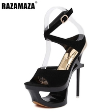 New Arrival High Heels Sandals Women Shoes Fashion High Platform Shoes Sexy Ankle Strap Thin Heels Brand Sandals Size 34-39