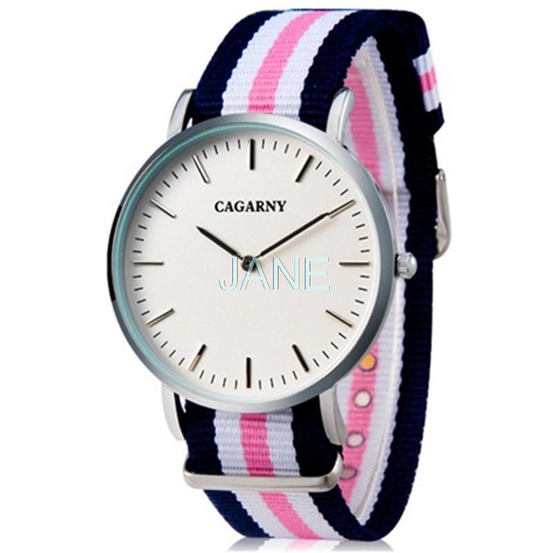 CAGARNY quartz watch Business Casual Ultra-thin Waterproof Watch with Nylon Cloth Strap gold watch men 0550<br><br>Aliexpress