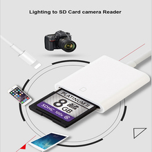 2 in 1 Camera Kit Compatible Card Reader Digital OTG Data Cable Needn't APP For Apple iOS9.2-10.3 Android