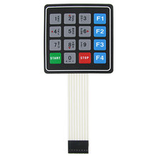 Universal 4x4 16 Key Matrix Membrane Switch Keypad Keyboard 76x69x0.8mm(China)