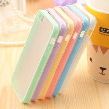 Ultra Thin Fashion Cute Candy Color Cover Bag Phone Cases For Apple Iphone 5 Case For iPhone5 5S Moblie Phone Protection Shell(China)