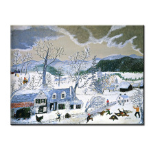DP ARTISAN Catching the Turkey Anna Mary Robertson Grandma Moses Wall painting print canvas home decor oil painting No framed