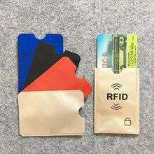 Anti Rfid Colors Blocking Reader Lock Bank Card Holder Id Bank Card Case Protection Metal Credit Card Holder Aluminium 5pcs/lot(China)