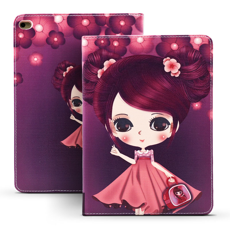 Cover for Funda iPad Air Case Cartoon Girls PU Leather Ultra Slim Anti-Dust TPU Back Cover for iPad Air 1 for Kids <br><br>Aliexpress