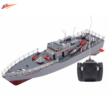 RC Boat 1:115 Scale Torpedo Boat Model High Power Warship Simulation Guided Missile Destroyer Led Light Electronic Toys Hobby(China)