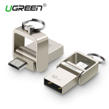 Ugreen USB Flash Drive, 64GB Metal OTG Pendrive High Speed USB Memory Stick 32GB pen Drive Real Capacity 16GB USB Flash U disk(China)