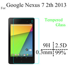 2013 Nexus 7 second generation Glass protector For Google Nexus 7 2th Glass Screen Protectors(China)