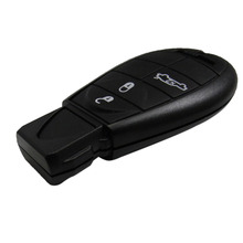 Replacement Smart Remote Car Key Fob Shell Case for Dodge Challenger Magnum Charger for Chrysler 4 Buttons No Chip Uncut Insert
