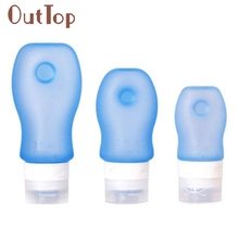 Silicone Travel Packing Btle Lion Shampoo Bath Container Press Btle 37/60/89ML 528 Dropship