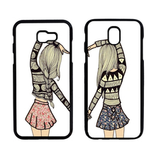 Two Girls Best Friends Cover Case for Samsung Galaxy A3 A5 A7 A320 A520 A720 J3 J330 J5 J530 J7 J730 2017 J3 Pro J3110(China)