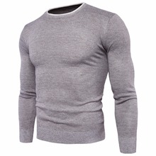 Buy 2018 autumn winter new men's cotton slim sweater fashion mens round neck warm sweater jacket M-2XL for $7.81 in AliExpress store