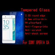 XA Tempered Glass For Sony Xperia XA (Sony XA)  Super Clear Anti-burst screen Tempered Glass 2.5D edge Without  Retail Package