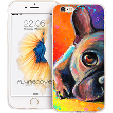 Coque French Bulldog Dog Clear Soft TPU Silicone Phone Cover for iPhone X 7 8 Plus 5S 5 SE 6 6S Plus 4 5C iPod Touch 6 5 Case(China)