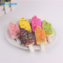 10Pcs/lot Kawaii Sprinkles Ice Cream Squishy Chocolate Popsicle Slow Rising Jumbo Soft Phone Straps Pendant Kid Toy Fun Gift