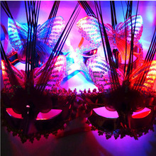 2017 Ladies Women Flash LED Light Up Butterfly Masks Mask for Mardi Gras Masquerade Party    Halloween