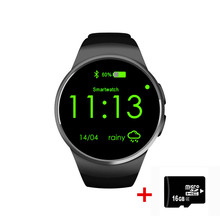 NFC Heart Rate Monitor Smart Watch KW18 SIM TF Smartwatch Android 2.5D OGS Touch Screen Smart Wristwatch Bluetooth Facebook Buit