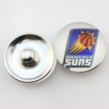 Fashion Basketball NBA Phoenix Suns Snap Button Sports Charms for DIY 18mm Snap Bracelet Jewelry 10pcs/lot