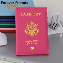 The United States Passport Holder Cover PU Leather ID Card Fashion Travel s passport Covers passport for America(China)