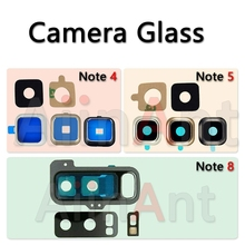 Buy AiinAnt Original Back Rear Camera Glass Lens Ring Cover Samsung Galaxy Note 4 5 8 Sticker Glue Replacement Phone Parts for $1.20 in AliExpress store