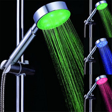 No Battery Needed Lighting Showers head with Temperature Sensor with color box(China)