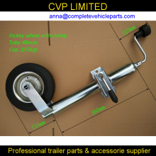 quality trialer jack, trailer jockey wheel, top wind,48mm tube, trailer parts(Hong Kong)