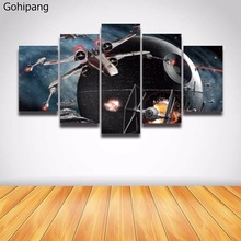 No fram 5 Panel Canvas Prints Art Star Wars Cuadros battleship 5 Pieces Painting Wall Art Printed Poster Canvas Home Decor(China)