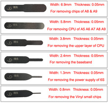 1 Set 6 pcs & More 5 pcs Free Graver Blades of Art Knife Taiwan Mobile Phone Repair Tools For Removing Chips CPU Baseband Vinyl(China)