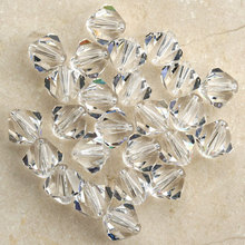 wholesale Crystal Clear Color Grade AAA 5301# 3mm 4mm 6mm 8mm Crystal Bicone Beads,Jewelry Spacer Glass Loose Beads / Stones