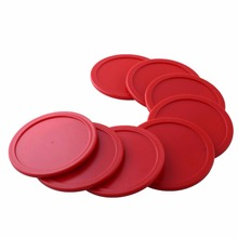 8Pcs 63mm Air Hockey Pucks Ice pucks Red ABS Air Hockey Children Table Mallet Puck GoaliesFree Shipping(China)