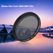 K&F Concept Brand New Ultra-thin 52mm 58mm 67mm ND Fader Neutral Density Adjustable Variable Filter ND 2 to ND 400 Filter