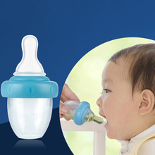 Baby Nipple 15ML Liquid Medicine Utensil Baby Bottle Blue Silicone Simulation Pacifier Kids Care Products A039-30(China)