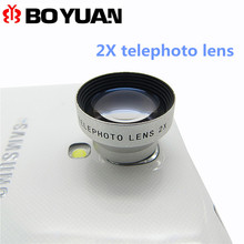 Universal Magnetic  2X Telephoto Camera Lens For iPhone6 6S for Samsung For Sony / Huawei Android Detachable Mobile Phone Lenses